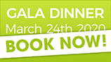 Gala Dinner 24 March 2020 - Book now!